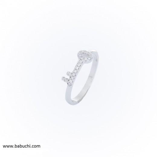Precio anillo de plata rodiada llave de la vida de la felicidad circonitas