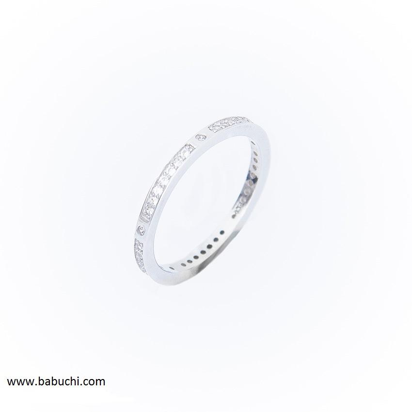 20967b83faa7 Comprar anillo de plata rodiada tipo alianza con circonitas