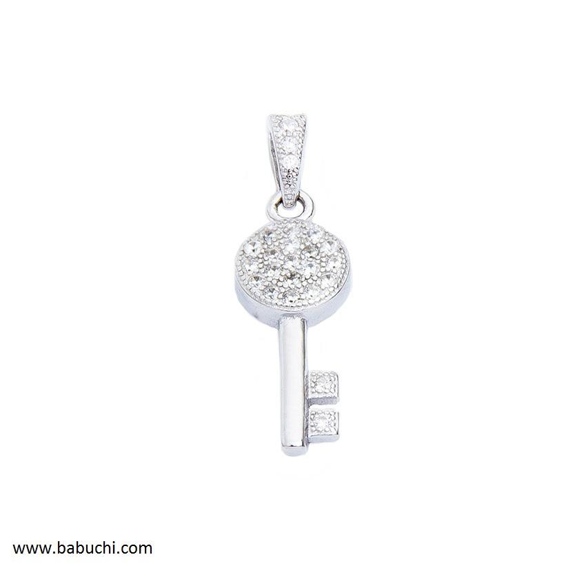 15d387fa70e7 Precio colgante plata rodiada llave de la felicidad