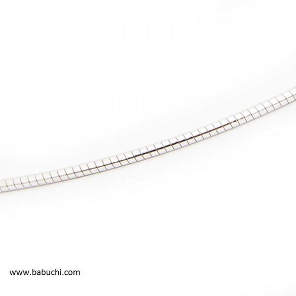 precio cadena plata rodiada de cola de ratón