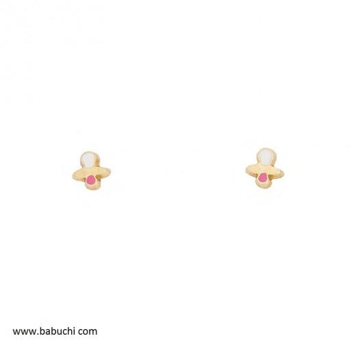 precio pendientes bebé de oro chupete mini esmalte