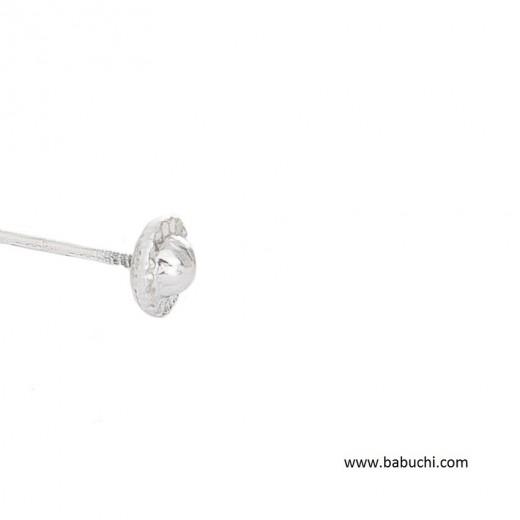 Rosca  oro blanco de 18 kilates para pendientes -
