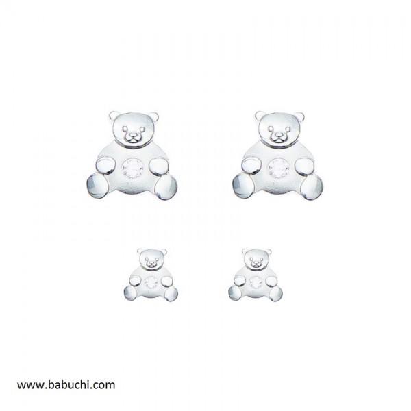 precio pendientes plata de ley oso  con piedra