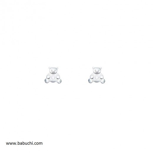 precio pendientes plata de ley oso pequeño con piedra