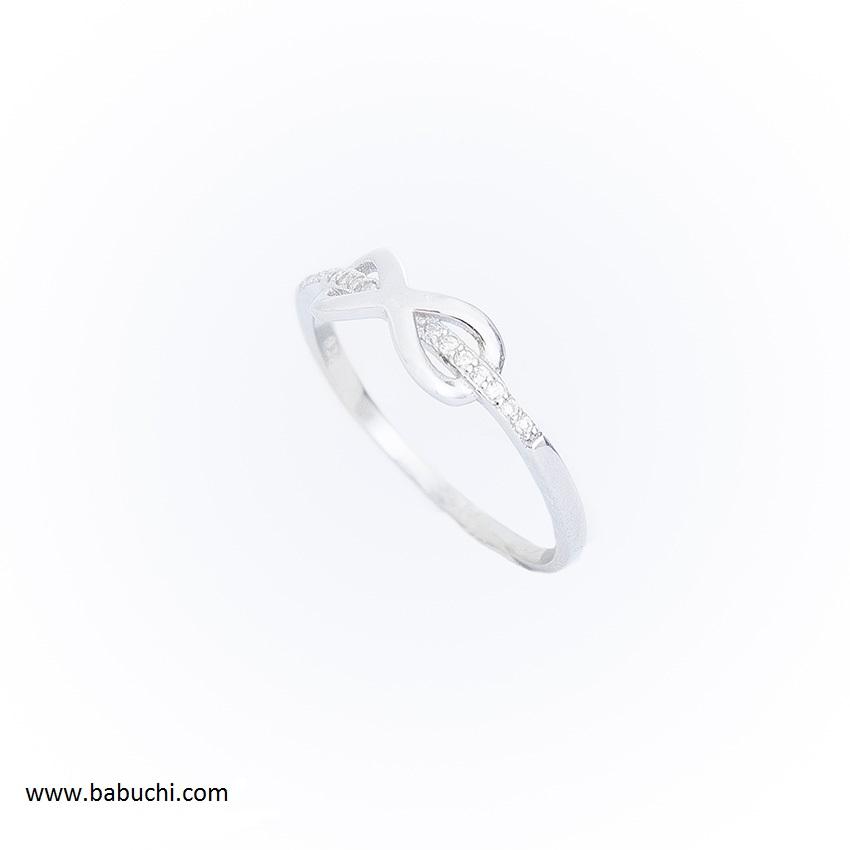 24eefc0031cf Anillo mujer plata rodiada mini infinito circonitas - Babuchi