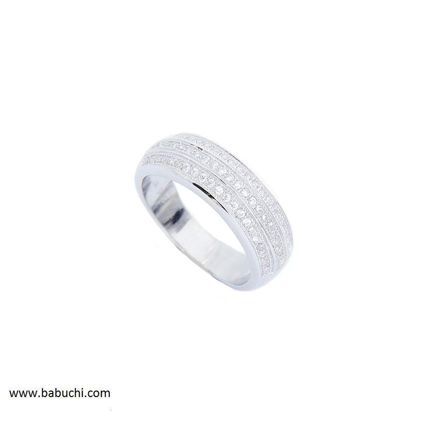 23647c811384 Anillo mujer 3 bandas circonitas plata rodiada - Babuchi