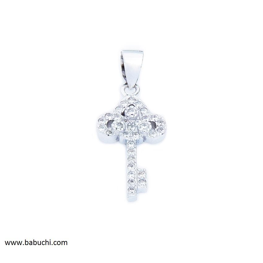 bbb1d090f363 Colgante plata rodiada mujerllave de la vida llave de la felicidad  circonitas