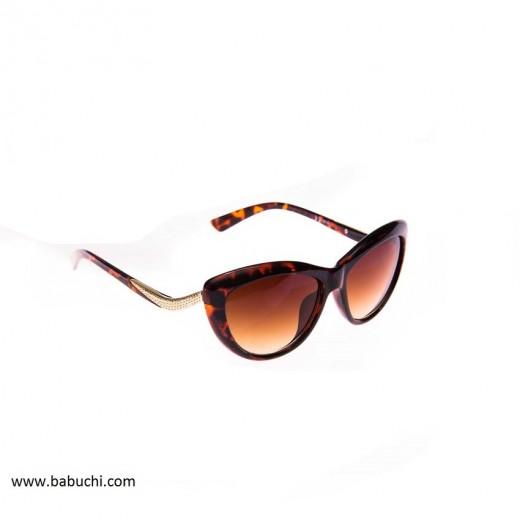 Gafas de sol mujer estilo mariposa marrón leopardo
