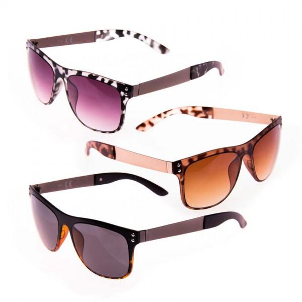 Gafas de sol mujer patilla ancha cromada