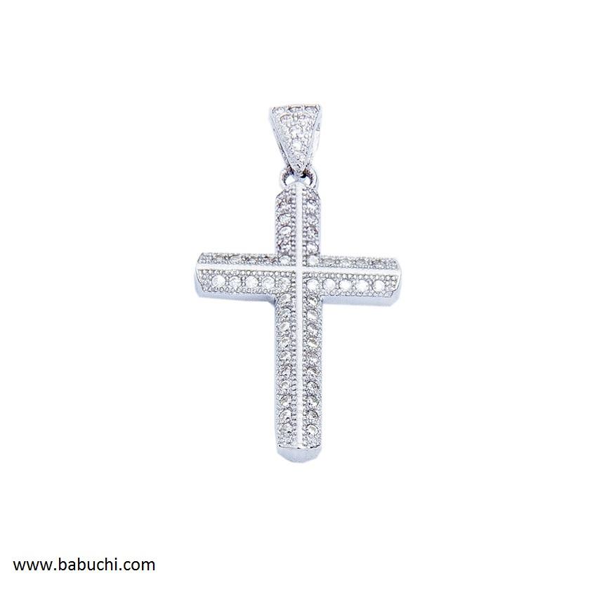c208d872a2dd colgante de cruz plata rodiada mujer circonitas precio