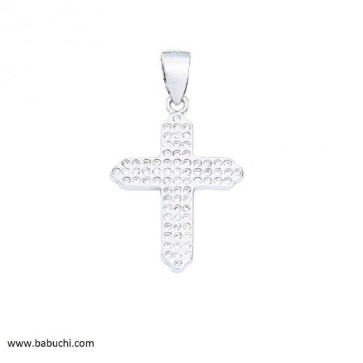 precio colgante cruz mujer circonitas plata de ley rodiada
