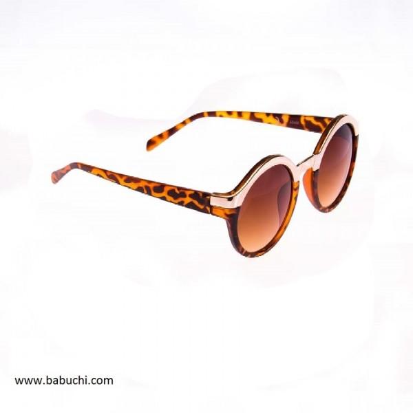 precio gafas de sol redondas filo cromado leopardo mujer.