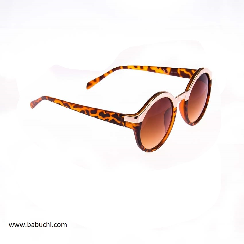 17719f90a9 precio gafas de sol redondas filo cromado leopardo mujer.