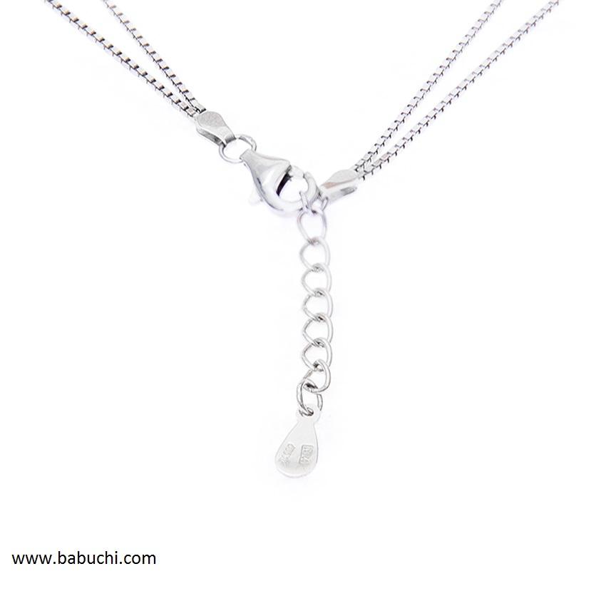 77865986b7d8 Pulsera mujer plata rodiada cadena con infinito - Babuchi