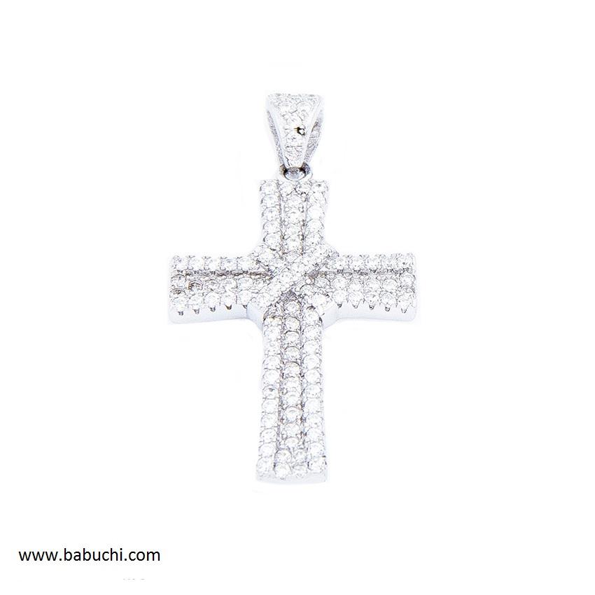 d83c6792d141 Colgante cruz mujer plata rodiada circonitas - Babuchi