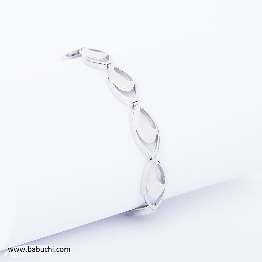 f81cda3c272e Pulsera mujer plata rodiada cierre ajustable - Babuchi