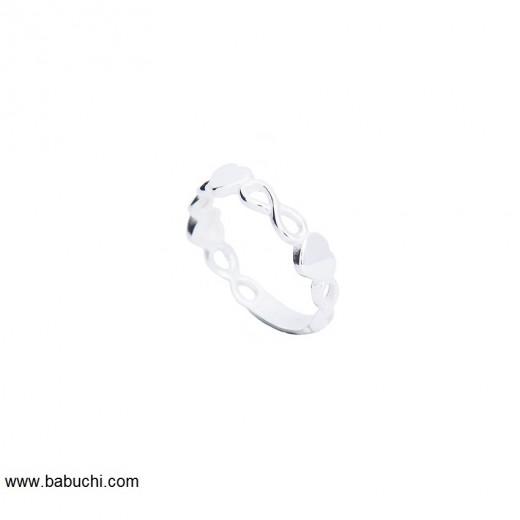 anillos de plata infinito corazones